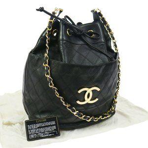 Authentic Vintage rare Chanel drawstring bag